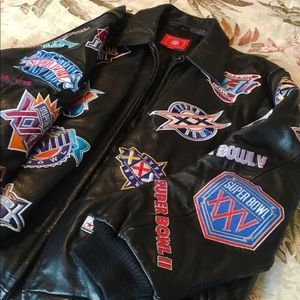 SUPERBOWL XLII leather collection jacket